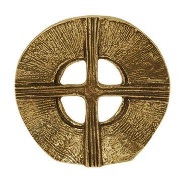 Stehkreuz Ø 9 cm Bronze Geschenkbox
