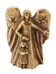 Schutzengel mit Mädchen 5 cm Bronze Bronzeengel Engel Figur – Bild 1