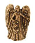 Schutzengel mit Junge 5 cm Bronze Engelfigur Engel  – Bild 1