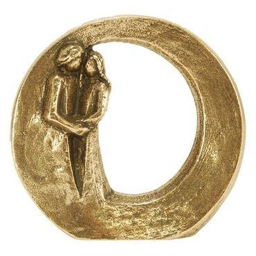 Steh-Plakette Paar Du bist geborgen Ø 9 cm Bronze