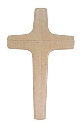 Holzkreuz Kreuzgravur Buche lackiert 20 cm Kruzifix