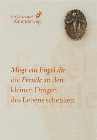 Engel der Freude Bronzeplakette mit Kärtchen