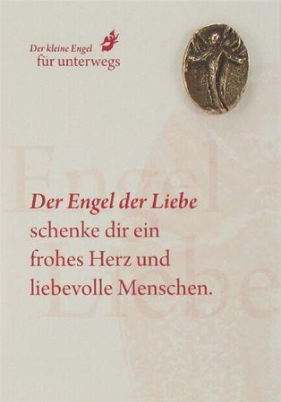 Engel der Liebe Bronzeplakette mit Kärtchen