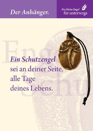 Engel des Schutzes Bronzeplakette mit Kordel