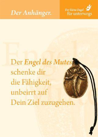 Engel des Mutes Bronzeplakette mit Kordel