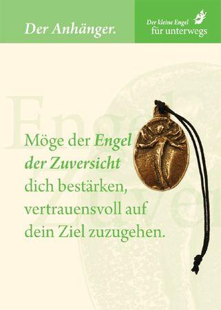 Engel der Zuversicht Bronzeplakette mit Kordel