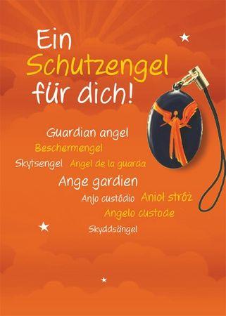 Handyanhänger  Ein Schutzengel für dich! Engel auf violett