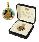 Heiliger Antonius echtes Murano Glas, Geschenkbox 001