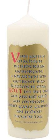 Tischkerze Von guten Mächten, Bonhoeffer 200 x 70 mm