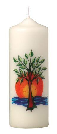 Tischkerze Lebensbaum Sonne 165 x 60 mm