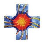 Wandkreuz Sende aus Deinen Geist Glaskreuz 18 cm 001