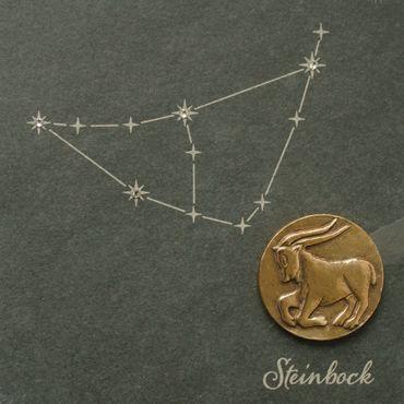 Wandrelief Sternzeichen Steinbock Schiefer Swarovski 14,5