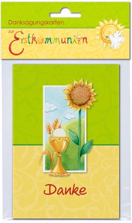 Danksagungskarten zur Erstkommunion 6 Doppelkarten