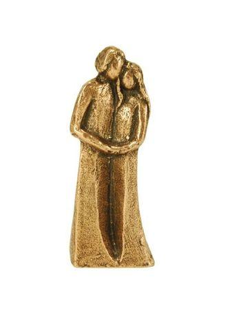 Skulptur Paar Bronze, massiv 9 cm