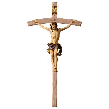 Holzkreuz Nazarener Kruzifix geschnitzt gebogen