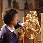 Wandkreuz Kruzifix Holzkreuz Corpus Nazarener geschnitzt bemalt blau 35 - 120 cm – Bild 2