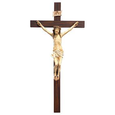 Holzkreuz Padre Pio Kruzifix Antik geschnitzt