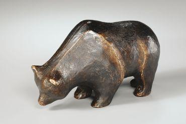Bronzeskulptur Bär limitierte und numerierte Auflage