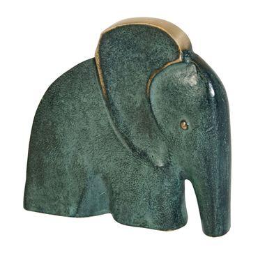 Bronzeskulptur Elefant 11 cm Bronze Figur