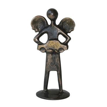 Bronzeskulptur Autofahrer-Schutzengelchen 12 cm