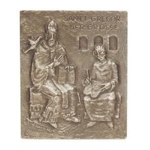 Gregor Namenspatron-Bronzerelief (13 cm)