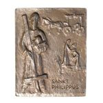 Philippus, Philipp Namenspatron-Bronzerelief (13 cm) 001