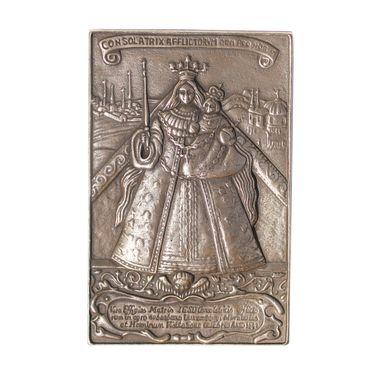 Kevelaer-Madonna 16 x 10 cm Bronzerelief