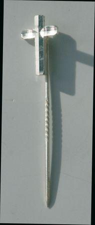 Priesterkreuz diamantgefräst Anstecknadel 14 mm