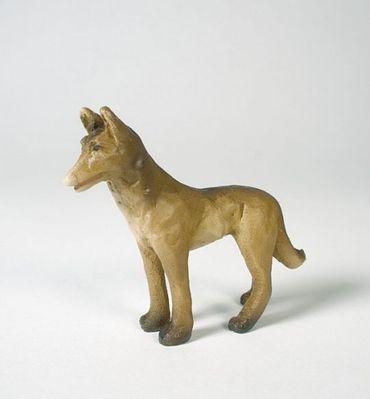 Krippenfigur Hund stehend Eifel-Krippe bemalt