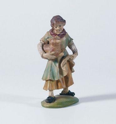 Krippenfigur Mädchen mit Katze Gelderland-Krippe