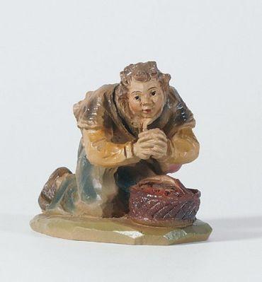 Krippenfigur Hirte, kniend mit Korb Gelderland-Krippe