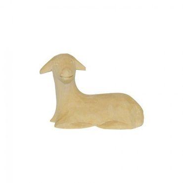 Schaf liegend Bauer-Krippe 17 cm handgeschnitzt