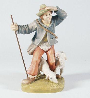 Krippenfigur Hirte mit Schafen Mesner-Krippe 22 cm