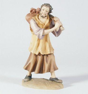 Krippenfigur Hirte mit Bündel Mesner-Krippe 22 cm