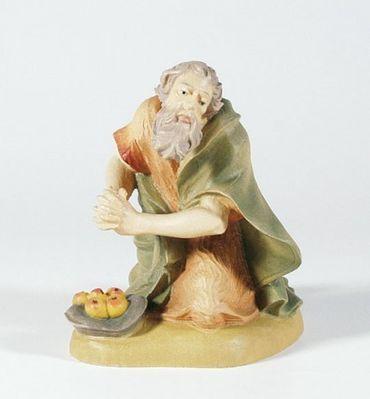 Krippenfigur Hirte, kniend, mit Früchten Mesner-Krippe