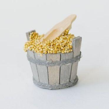 Kübel mit Scheffel handgefertigt Holz 5,5 cm