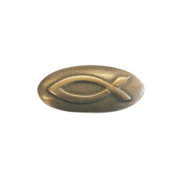 Handschmeichler Ichthys Fisch Bronze 4 cm