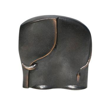 Bronzeskulptur Elefant dunkel gebeizt 11 cm