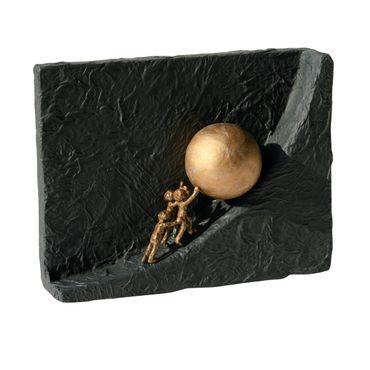 Bronzeskulptur Zusammen etwas bewegen 19 cm