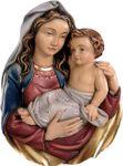 Wandrelief Madonna Holz geschnitzt & handbemalt  001