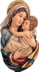 Wandrelief Mutter Gottes geschnitzt & handbemalt 001