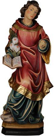 Heiligenfigur Diakon mit Palmzweig Holz geschnitzt