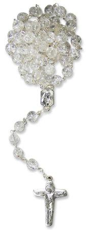 Rosenkranz Bergkristall Crack Perle 6 mm 44 cm