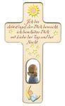 Kreuz für Kinder Schutzengel Gebet Engel blau Holz  001