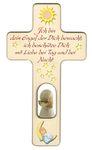 Kreuz für Kinder Schutzengel Gebet Engel rot Holz 001