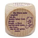 Gebetswürfel mit 6 Kindergebeten Gebete für Kinder Holz Natur – Bild 1
