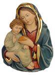 Mutter Gottes mit Jesukind Brustrelief handbemalt 001