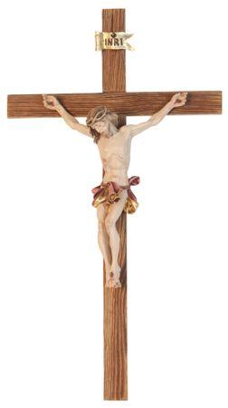 Kruzifix Barock, geschnitzt Holzbalken rustikal