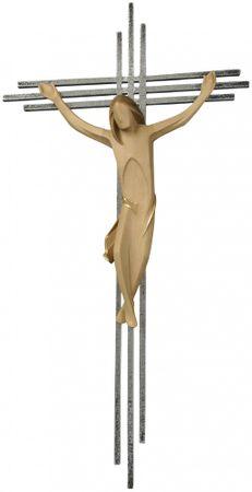 Kruzifix mit dreifachem Kreuzbalken in Stahl
