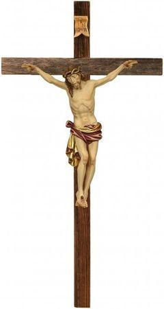 Kruzifix Dolomiten-Kreuz rustikal Holzschnitzerei